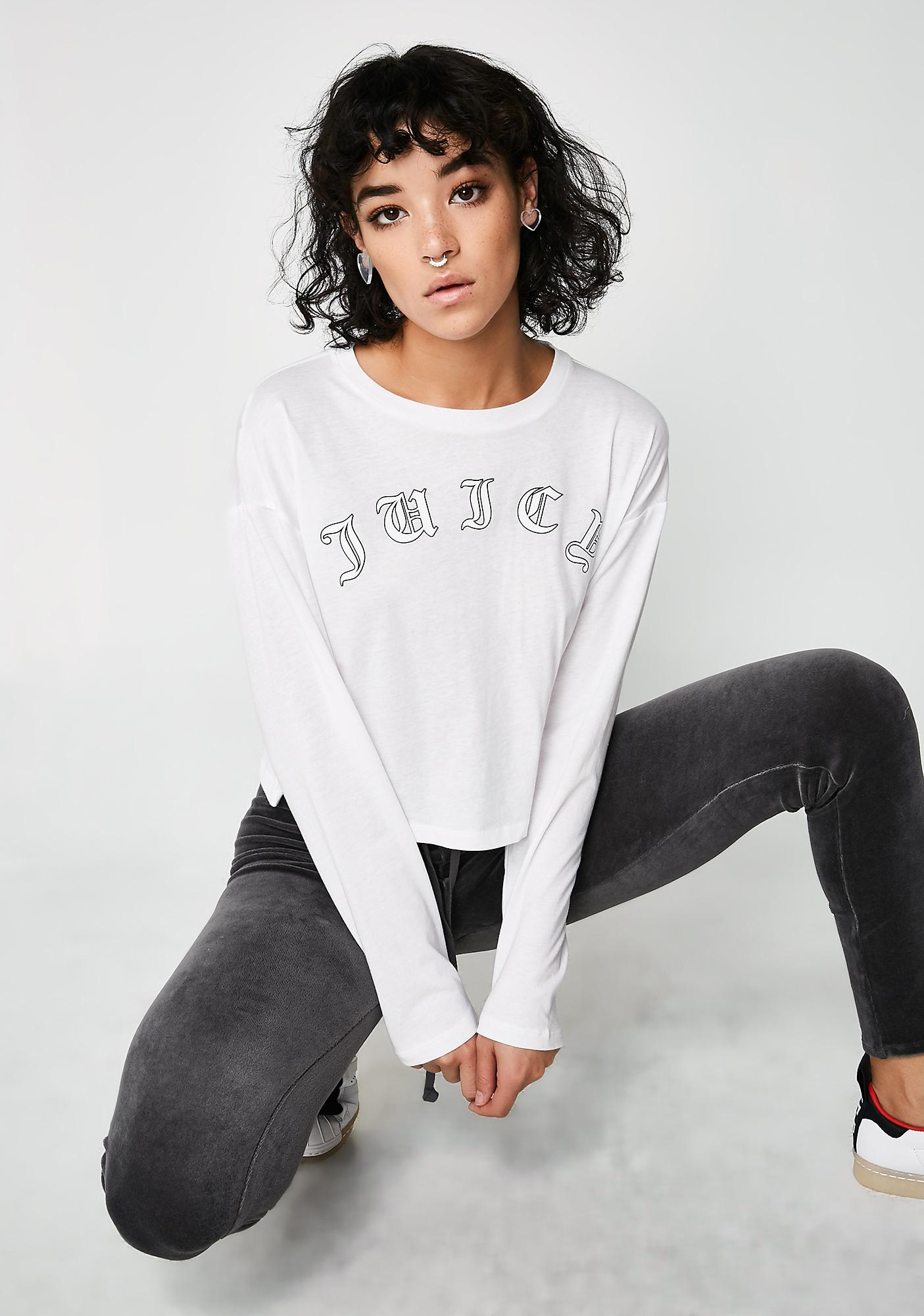 JUICY COUTURE Juicy Wildstyle Cropped Long Sleeve Tee