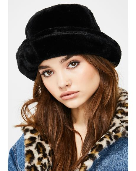 Chill Here We Go Furry Bucket Hat