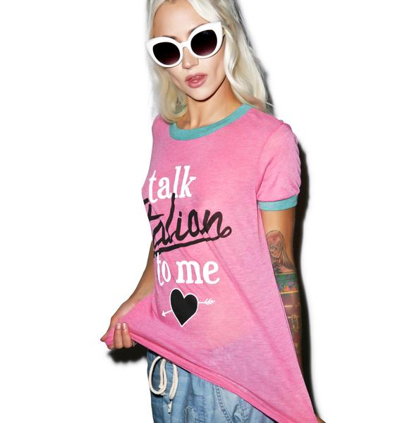 Wildfox Couture Wildfox Couture Talk Italian to Me Vintage Ringer Tee
