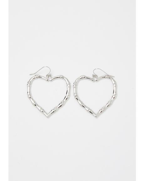 Shook Tough Lover Heart Earrings