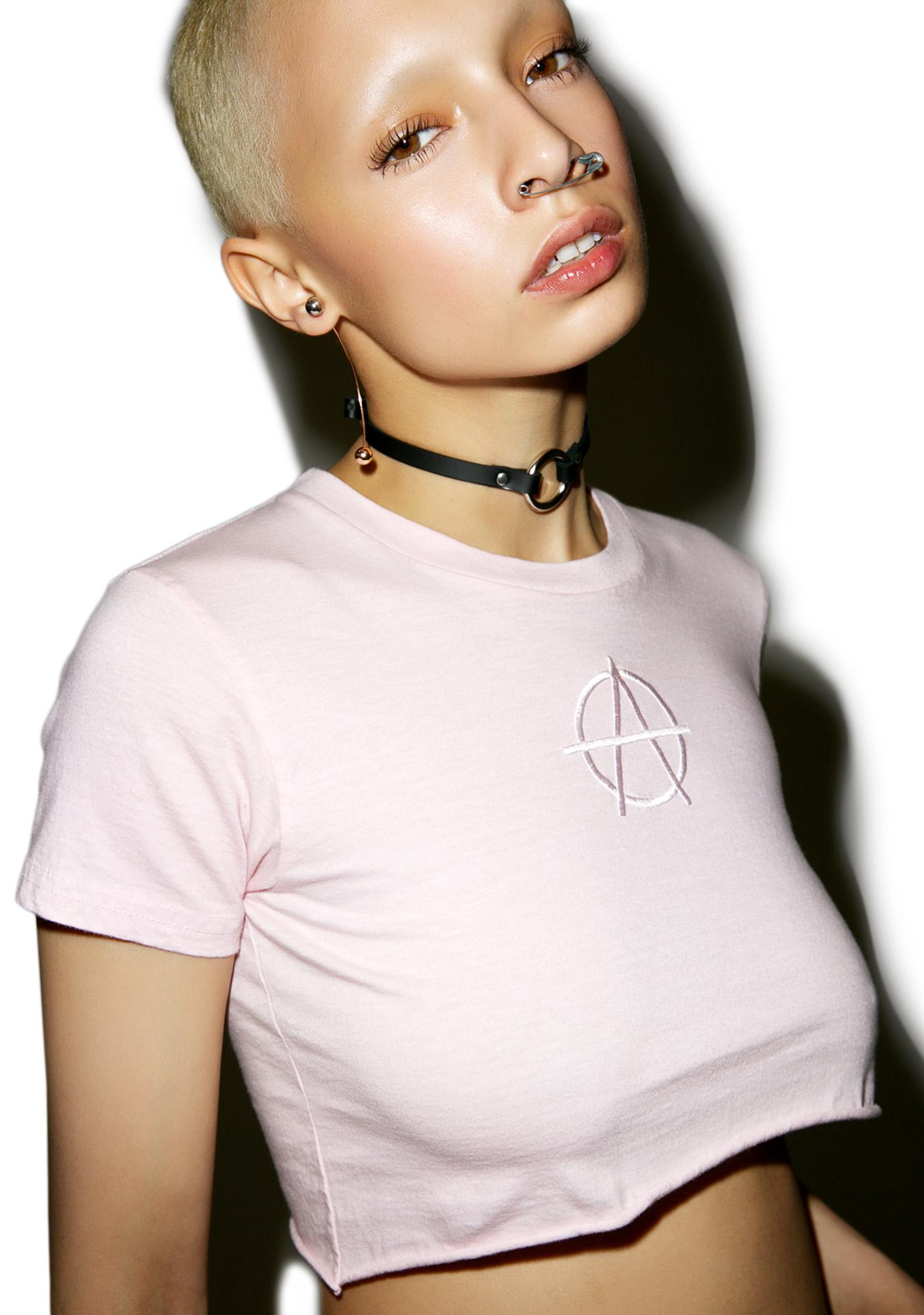 MadeMe Overdyed Anarchy Crop Tee