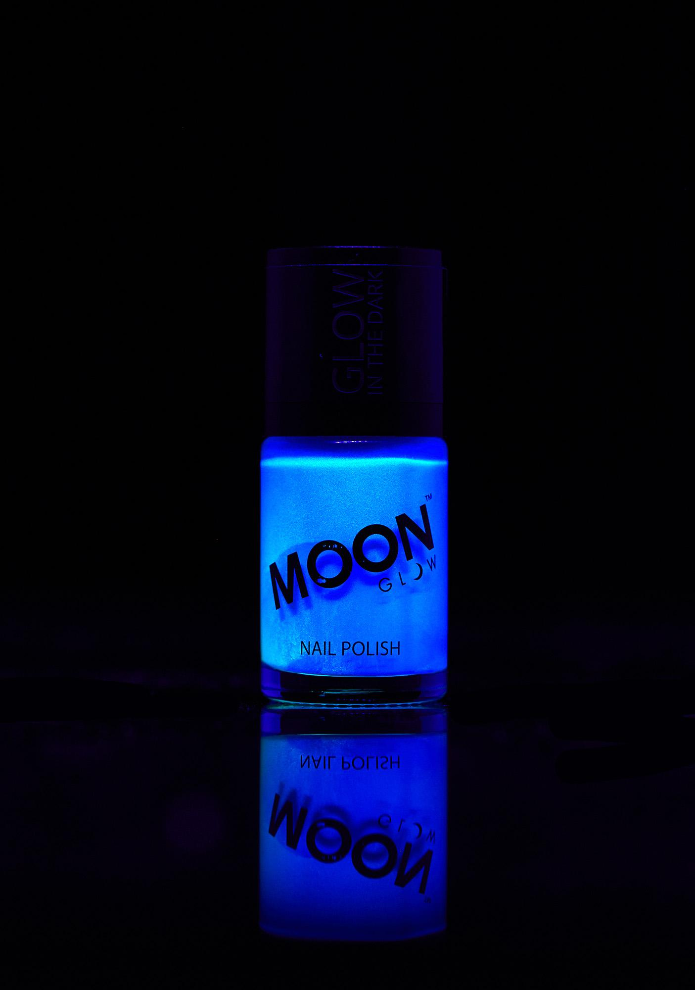 Moon Creations Blue Glow In The Dark Nail Varnish