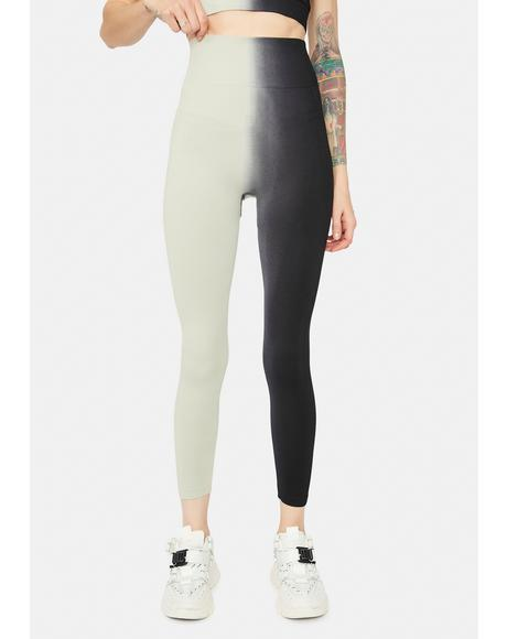 Slate Get To Werk Two Tone Leggings