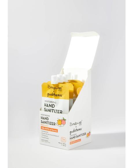 Gudetama Hand Sanitizer Pouch Peach