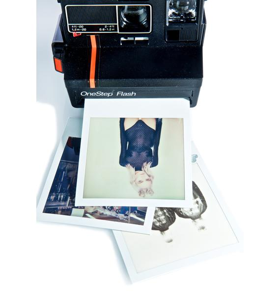 The Impossible Project Polaroid 600 Red Stripe Camera
