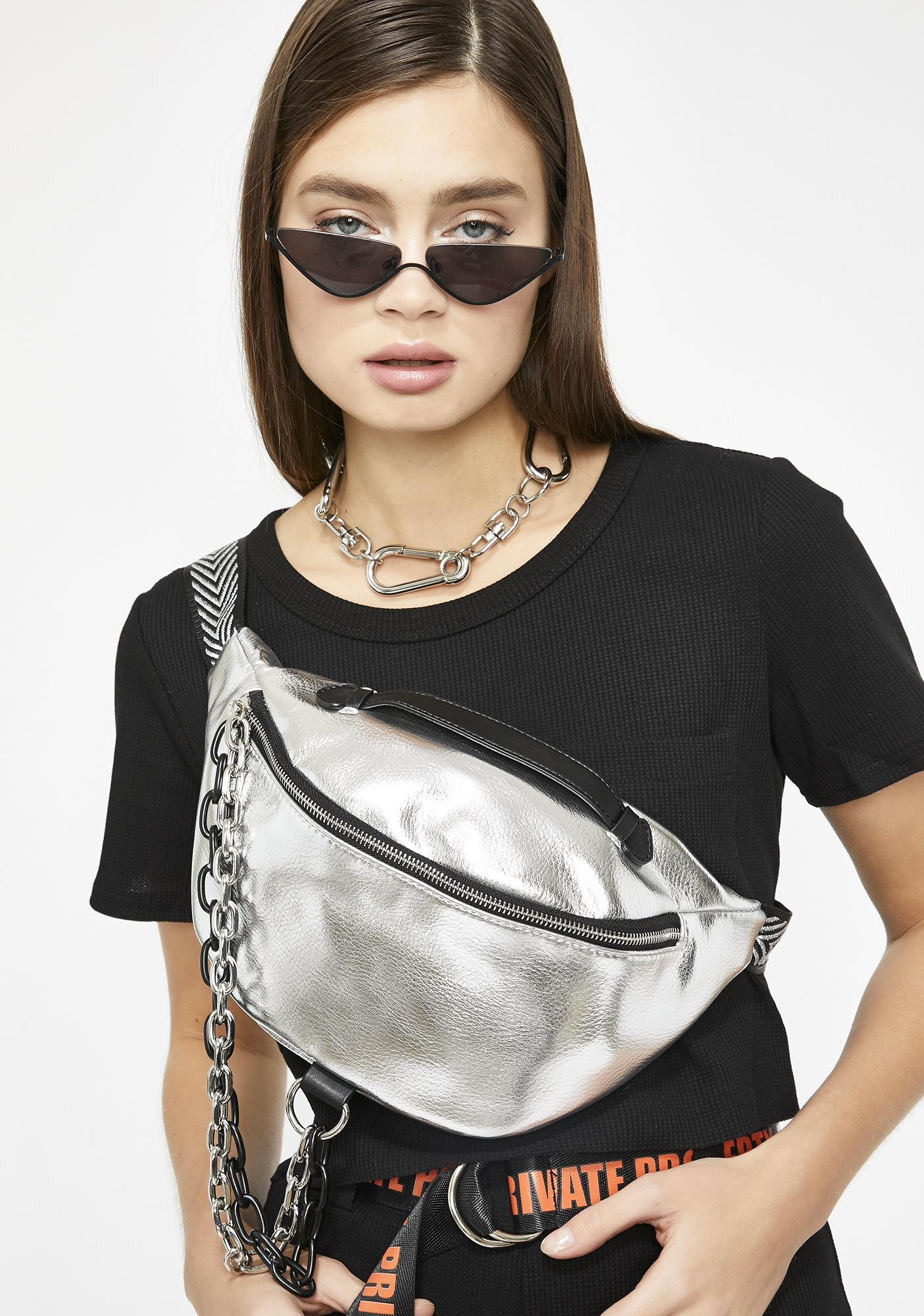 Platinum Share The Link Chain Fanny Pack