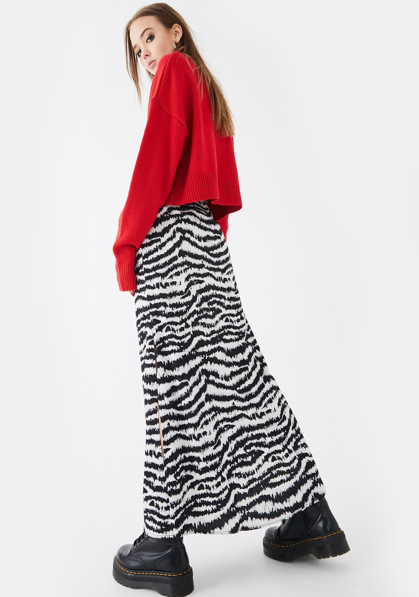 Motel Tinxi Tiger Stripe Maxi Skirt