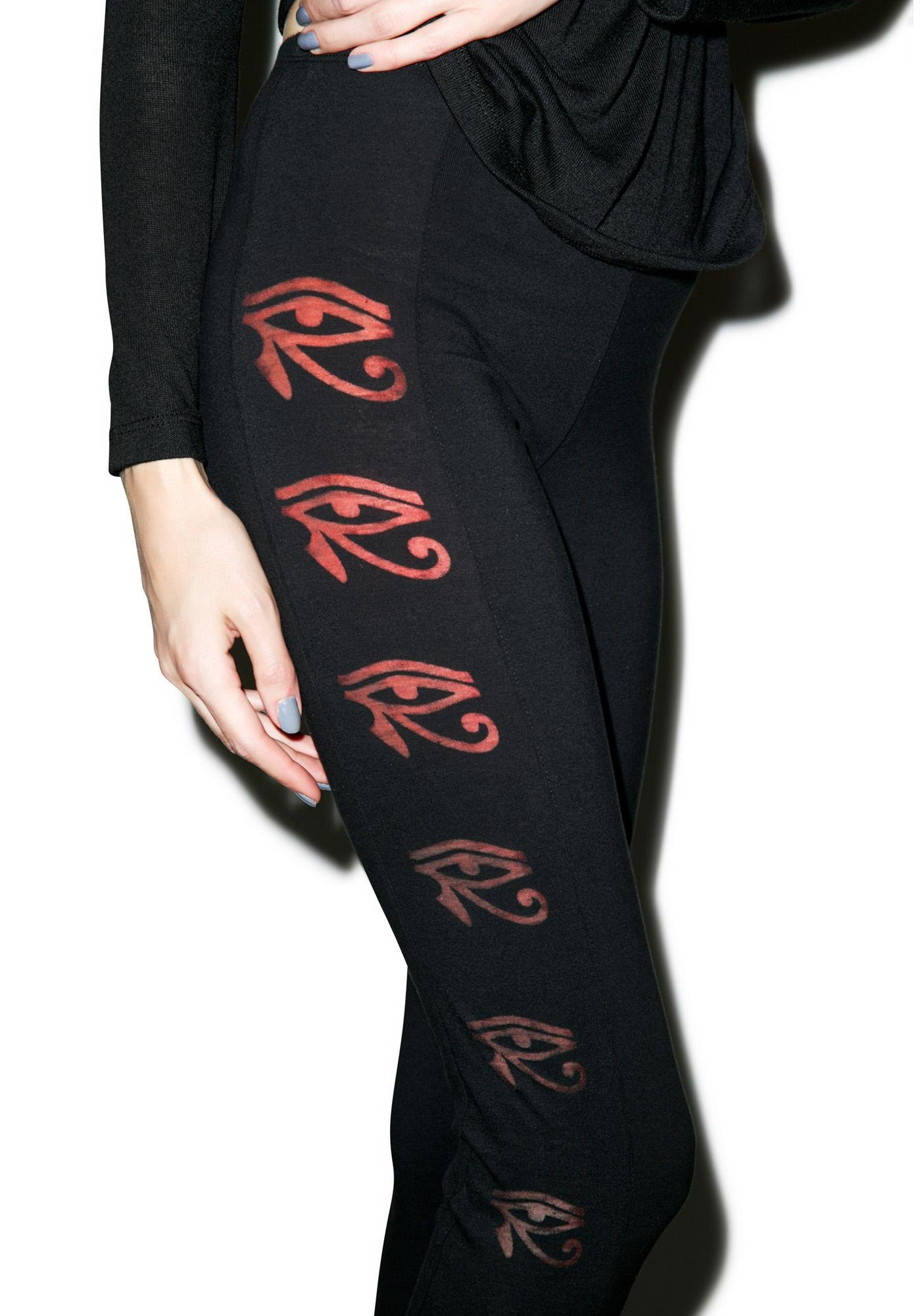 Black Scale Left Eye Leggings