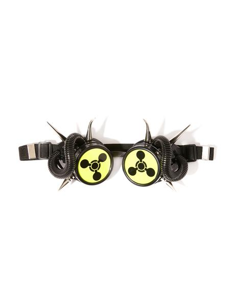 Biohazard Spiked Goggles