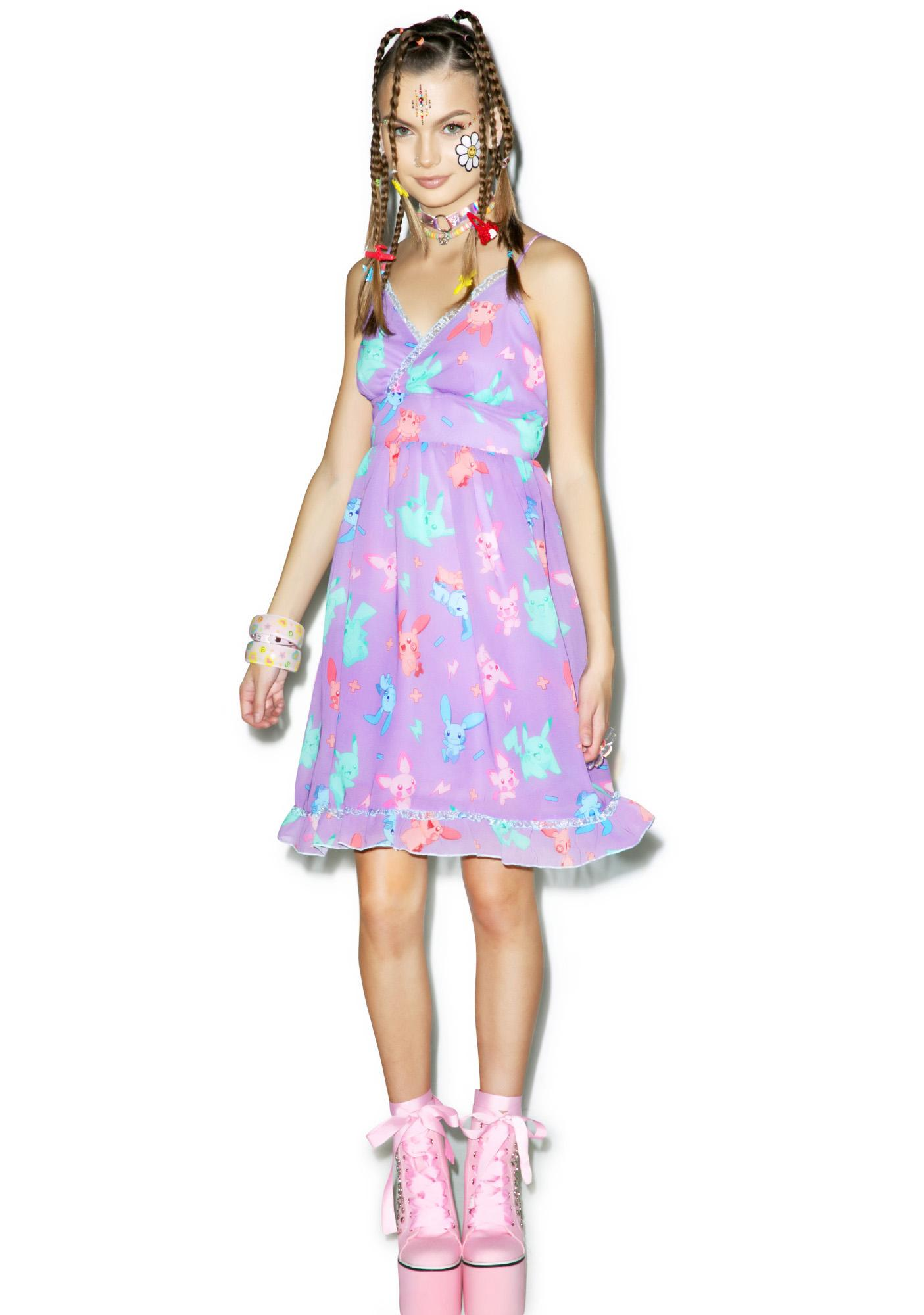 Japan L.A. Electric Sparks Babydoll Dress