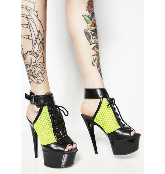 Dominate 'Em Lace-Up Heels
