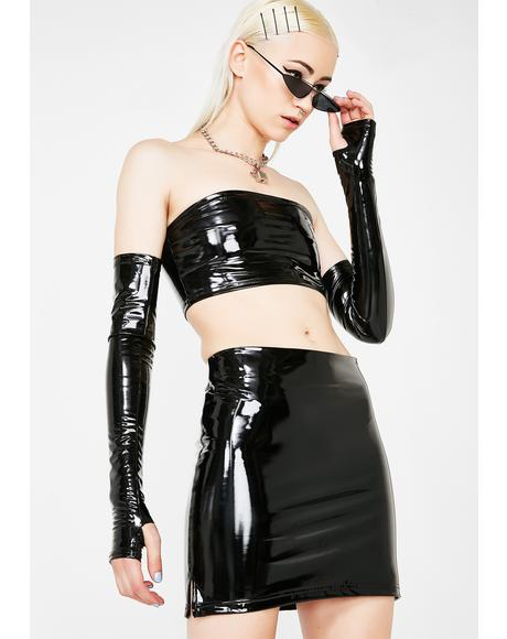 Lethal Kiss Vinyl Mini Skirt