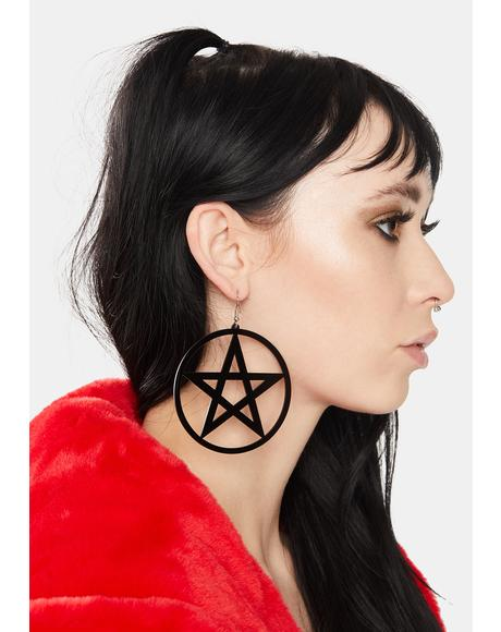 Hex On You Hoop Earrings