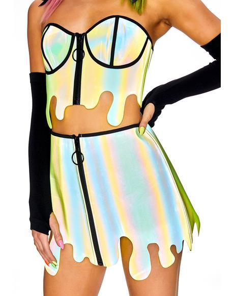 Slime Zone Reflective Skirt