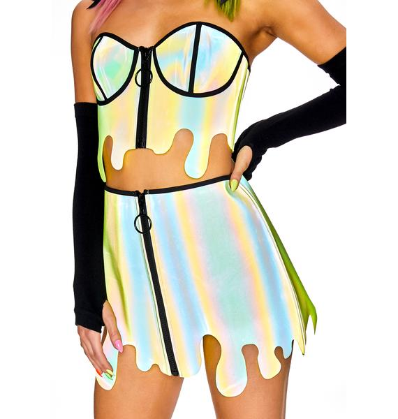 Club Exx Slime Zone Reflective Skirt