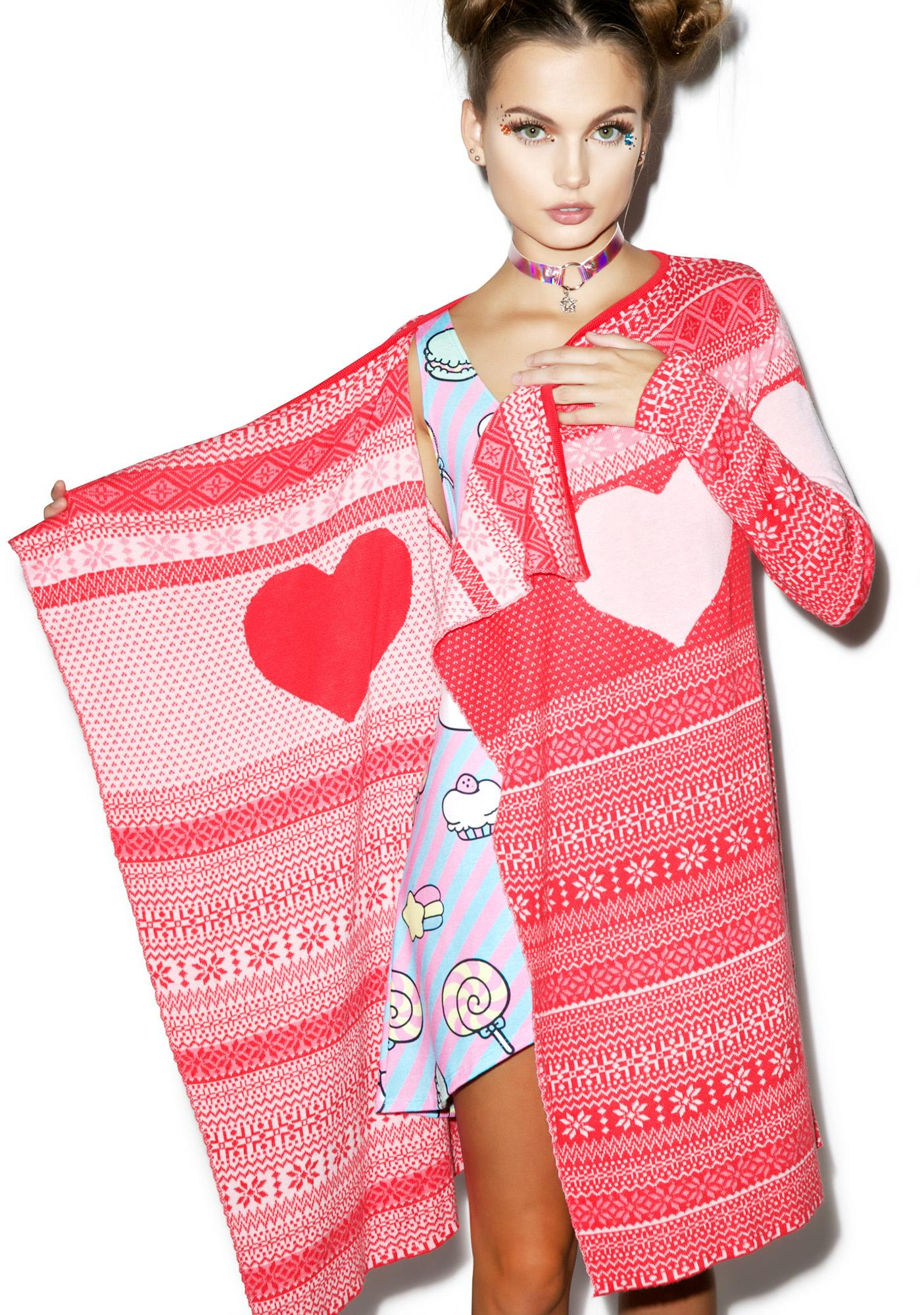Iron Fist Love A Lot Drape Sweater