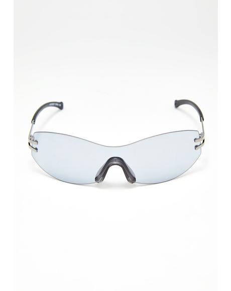 Noir Above The Clouds Shield Sunglasses