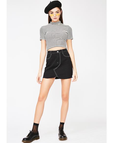 Hello Dolly Denim Skirt