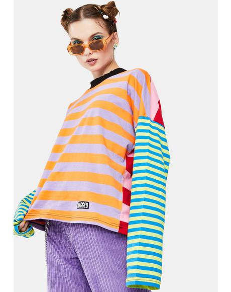 Dive Striped Long Sleeve Tee
