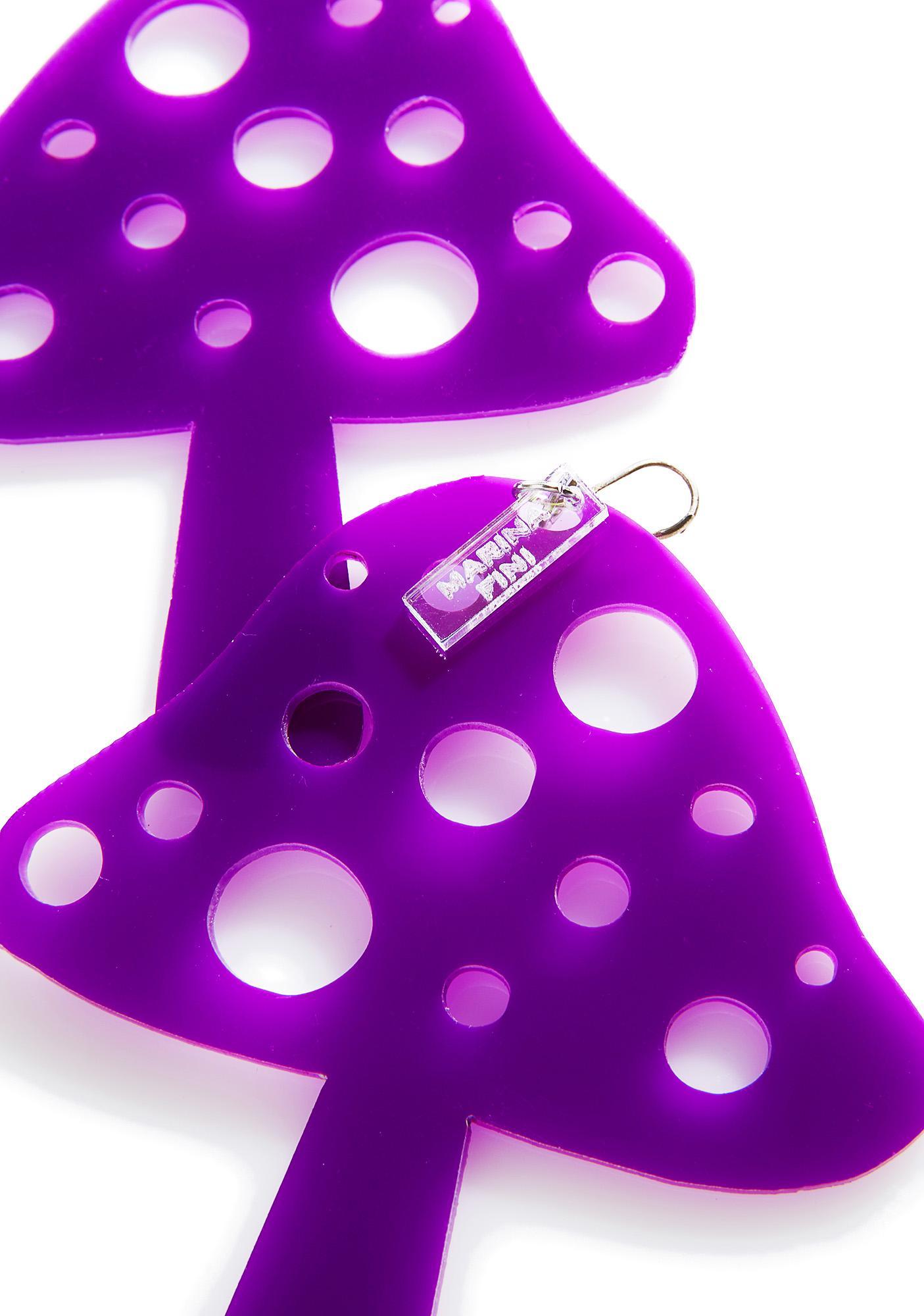 Marina Fini Mushroom Earrings