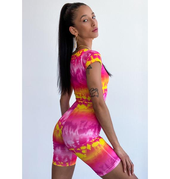 Just This Once Tie Dye Romper