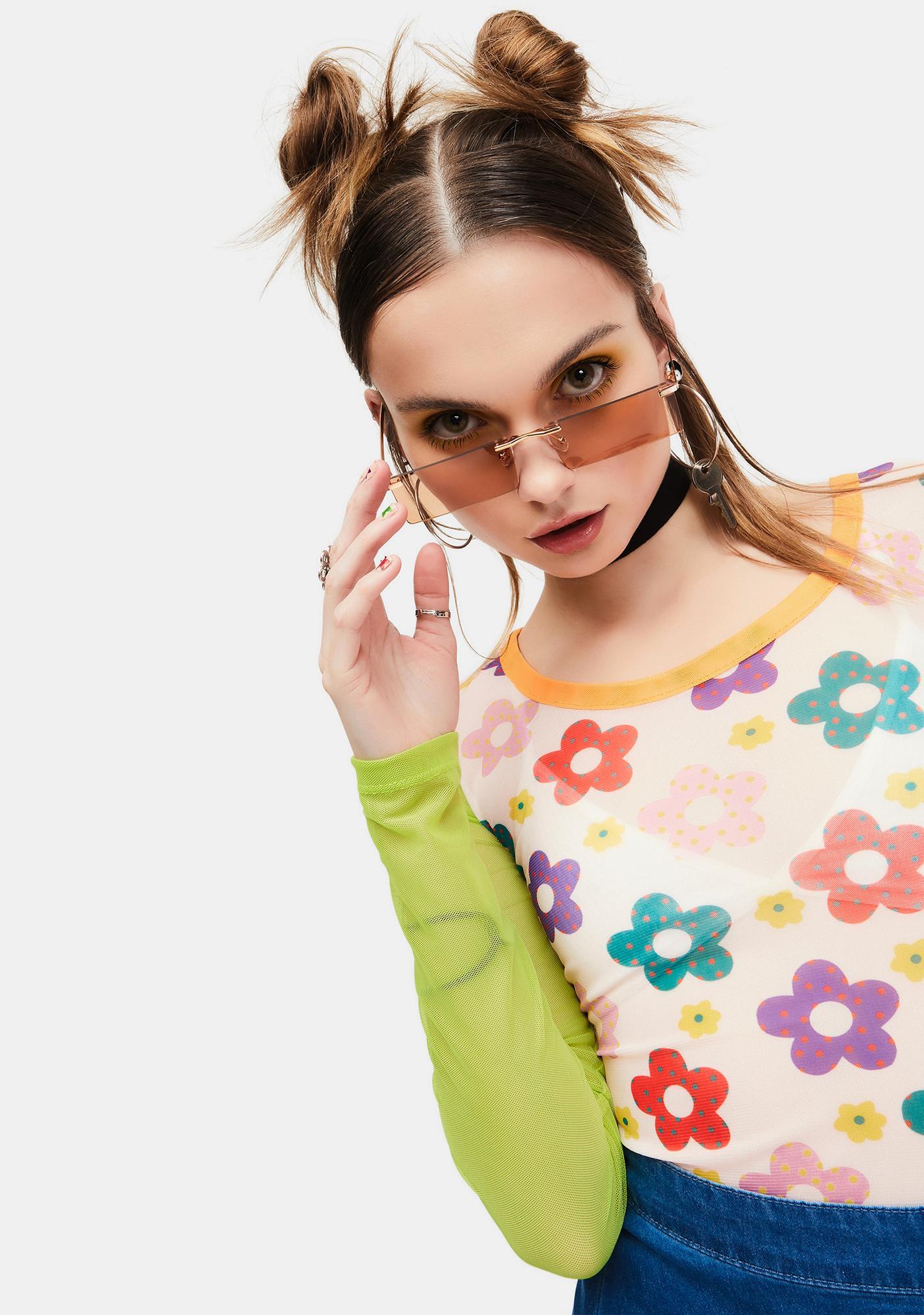 Crush Lil Bit Shady Frameless Rectangle Sunglasses
