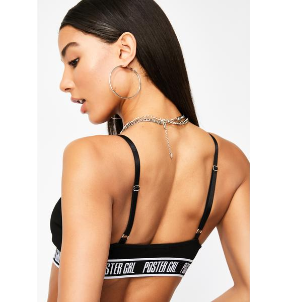 Poster Grl Night Boss Mode Strappy Bra