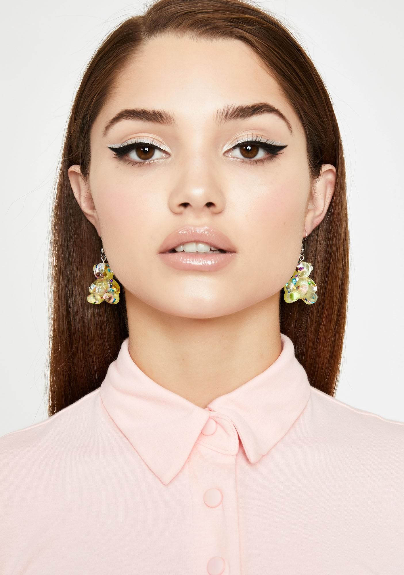 Lemon Sugar Rushin' Gummy Bear Earrings