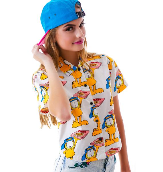 Lazy Oaf x Garfield Pizza Cat Shirt
