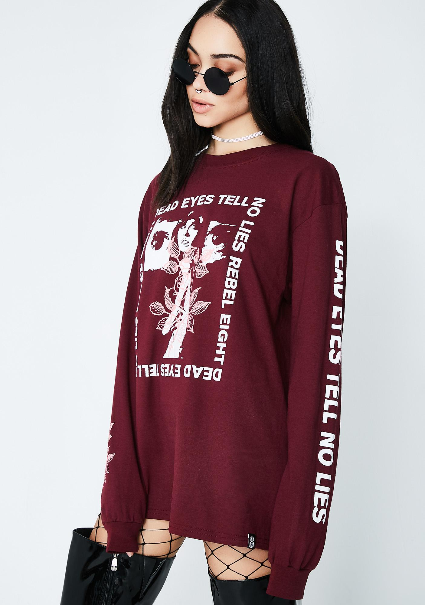 Rebel8 Dead Eyes Long Sleeve Tee
