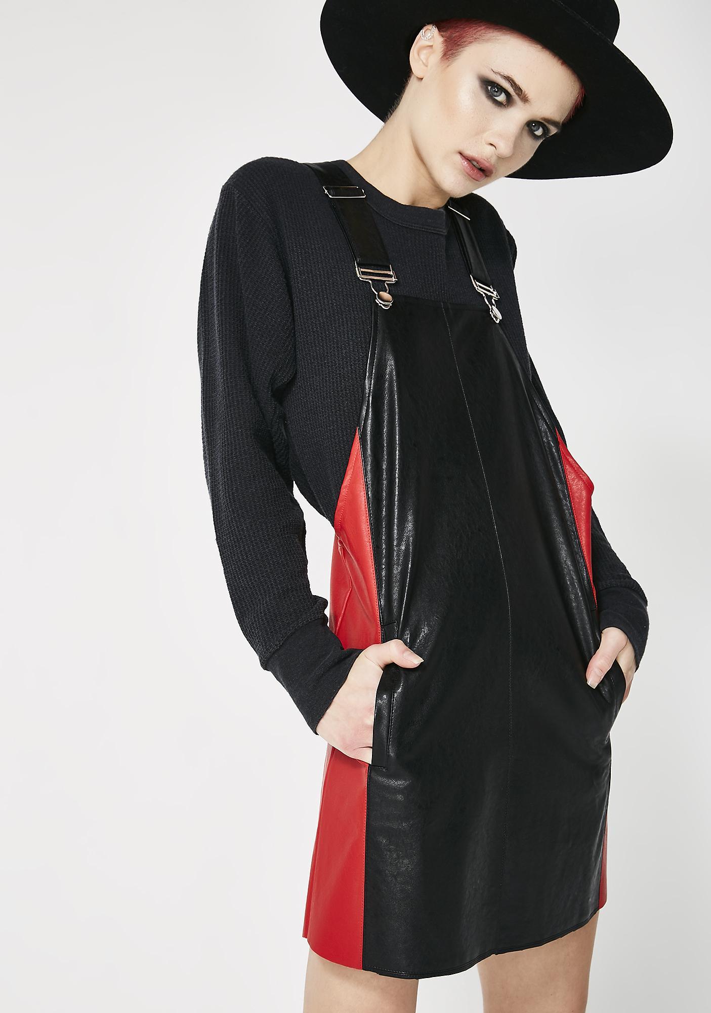 Glamorous Causin' Trouble Pinafore Dress
