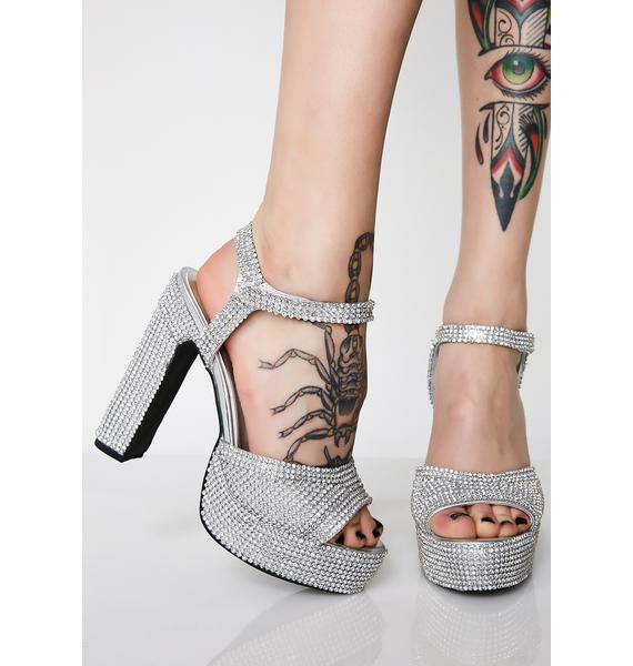 Sugar Thrillz Rhinestone Pretty Princess Platform Heels