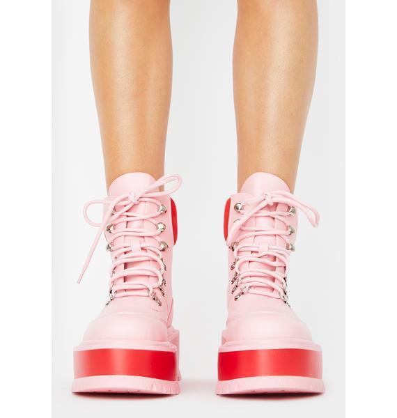 Koi Footwear Light Pink Hydra Platform Boots