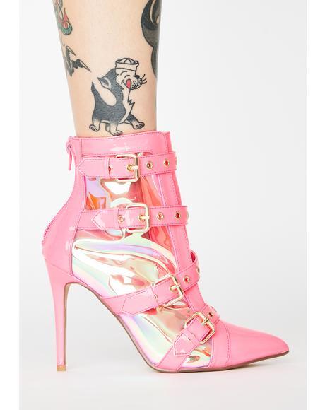 Pink Keeler Heeled Booties