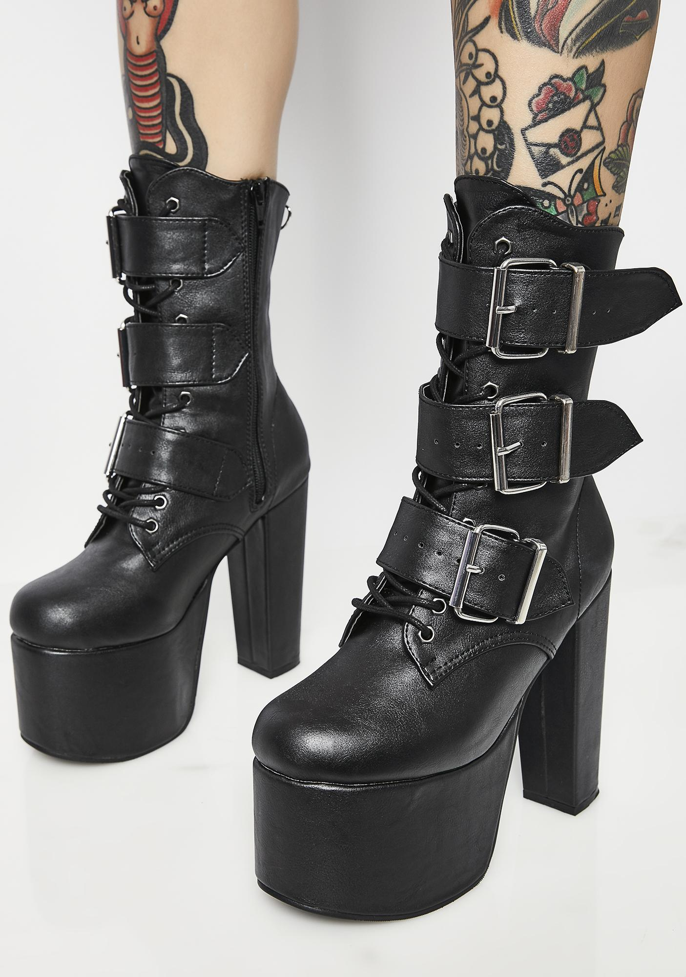 Demonia Elvira Buckle Boots