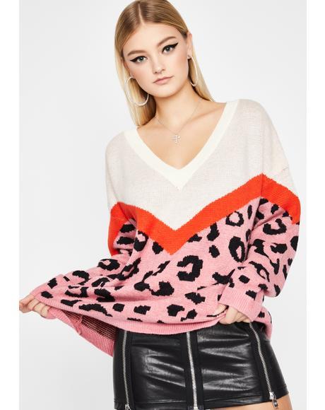 Proper Instinct Leopard Sweater