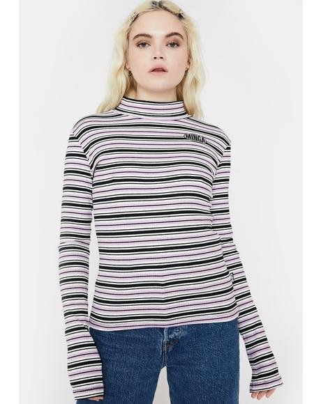 Blush Crush Striped Ribbed Top