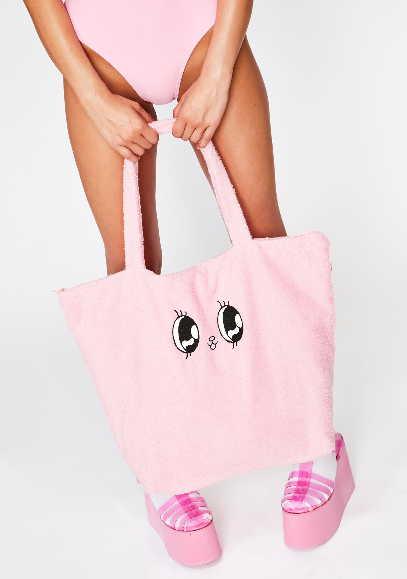 Lazy Oaf Esther Towelling Bunny Tote Bag
