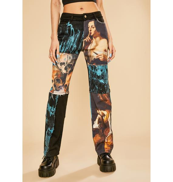 Current Mood Into The Fantasy Patchwork Jeans