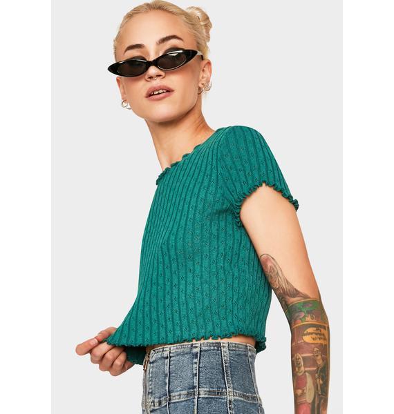 BDG Pointelle Sweater Tee