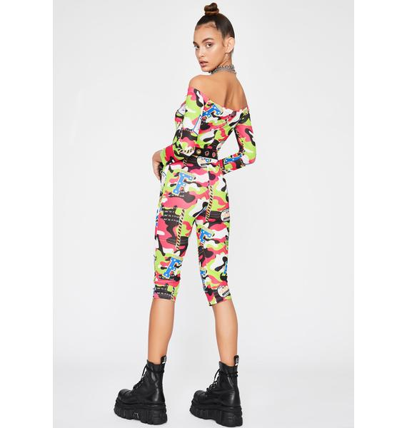 Art Of War Mesh Romper