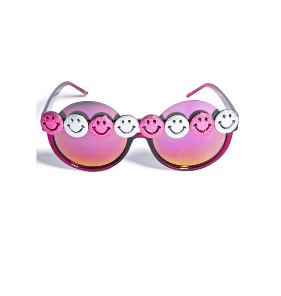 Gasoline Glamour Smiley Gurl Peekaboo Sunglasses