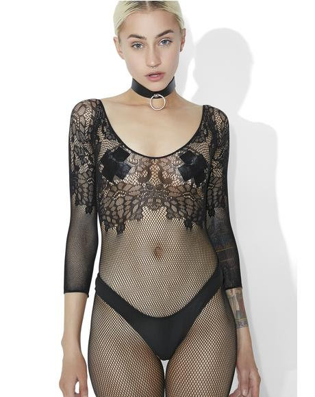 Sugar N� Spice Lace Fishnet Bodysuit