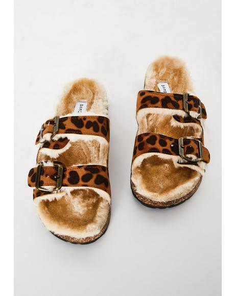 Comfy Kitty Furry Sandals