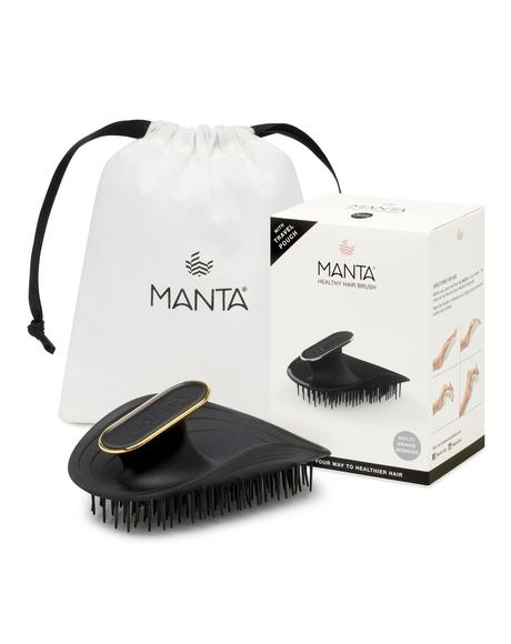 Black & Gold Manta Hair Brush