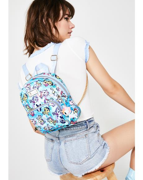 Watercolor Paradise Mini Backpack