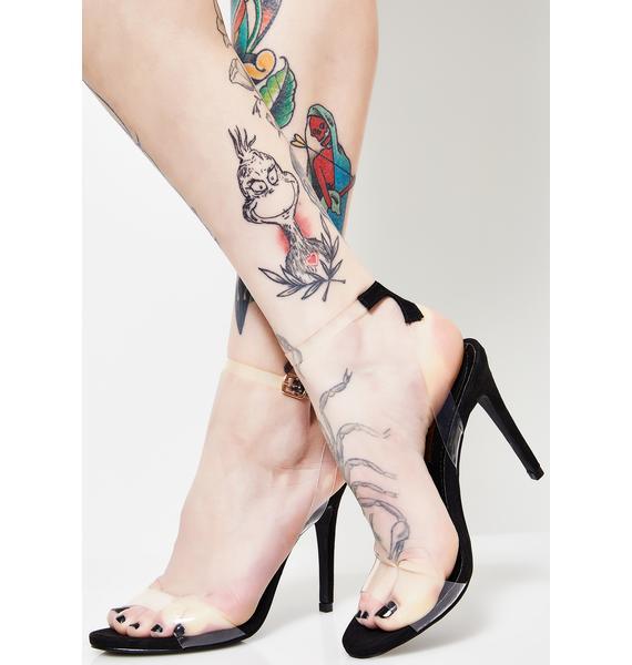 Cinderella Steppa Clear Heels