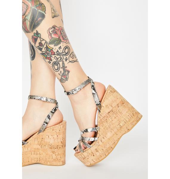 ROC Boots Australia Snake Cupid Wedge Heels