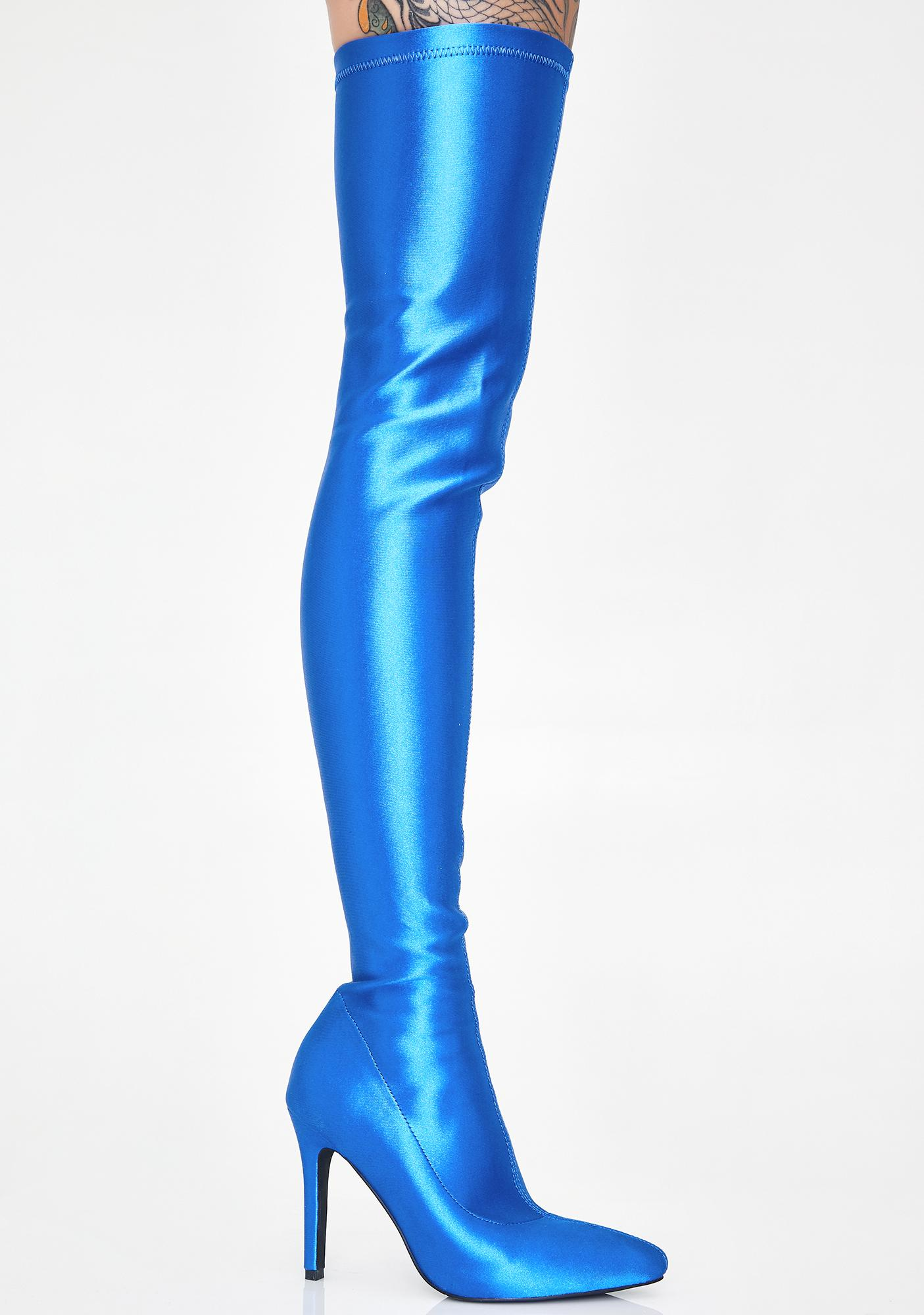 Poster Grl Viral Outlaw Thigh High Boots