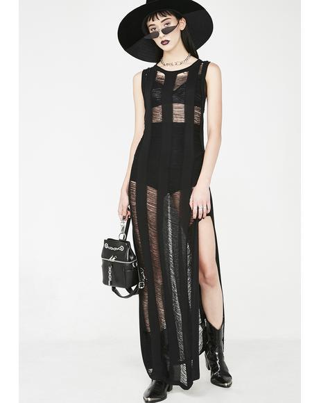 Beach Goth Maxi Dress